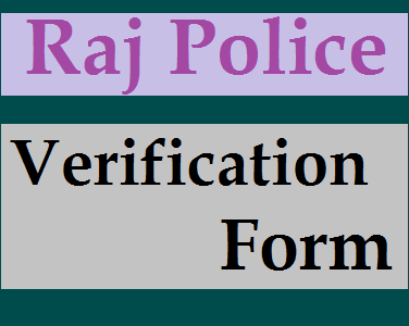 Rajasthan police Verification Form