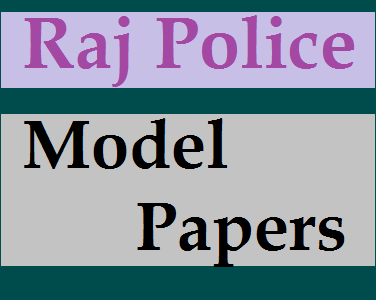 Rajasthan Police Constable Model Question Paper
