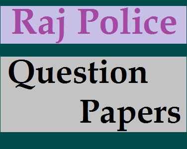 Rajasthan Police Question papers in Hindi